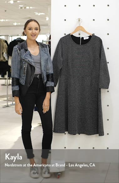 Carly Jacquard Fit & Flare Dress, sales video thumbnail