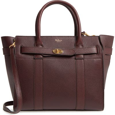 Mulberry Small Bayswater Leather Satchel - Burgundy