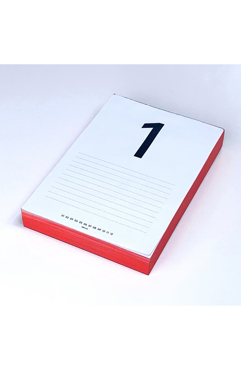 WMS & CO. Daily Calendar Pad, Main, color, RED