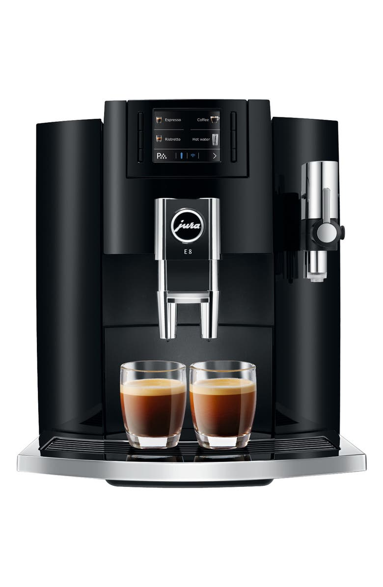 JURA E8 Automatic Coffee Machine, Main, color, PIANO BLACK