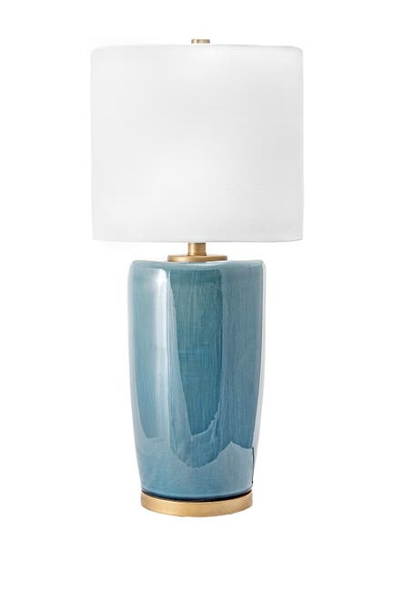 "Image of nuLOOM Blue Avon 24"" Ceramic Table Lamp"