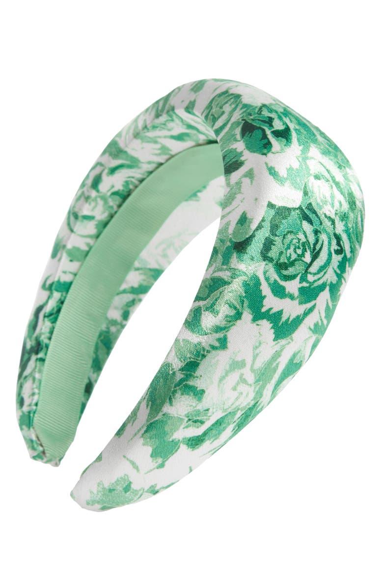 GANNI Floral Headband, Main, color, 300