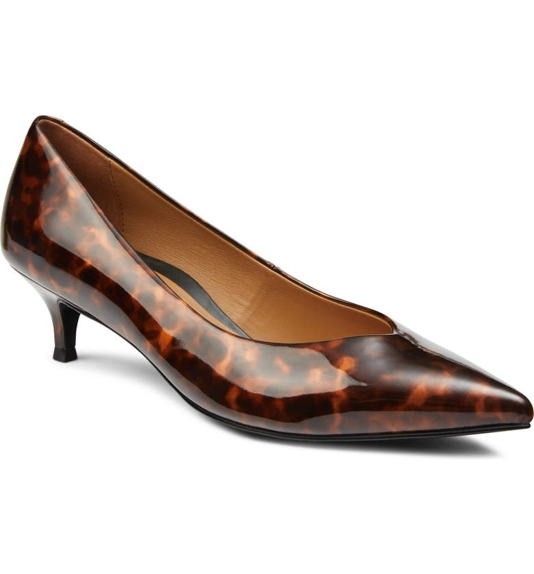 VIONIC Josie Kitten Heel Pump, Main, color, TORTOISE PATENT LEATHER