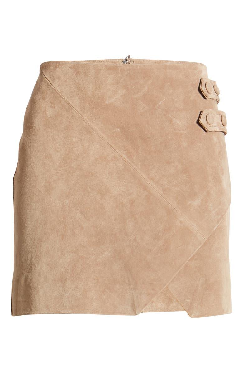 BLANKNYC Suede Miniskirt, Alternate, color, MACCHIATO