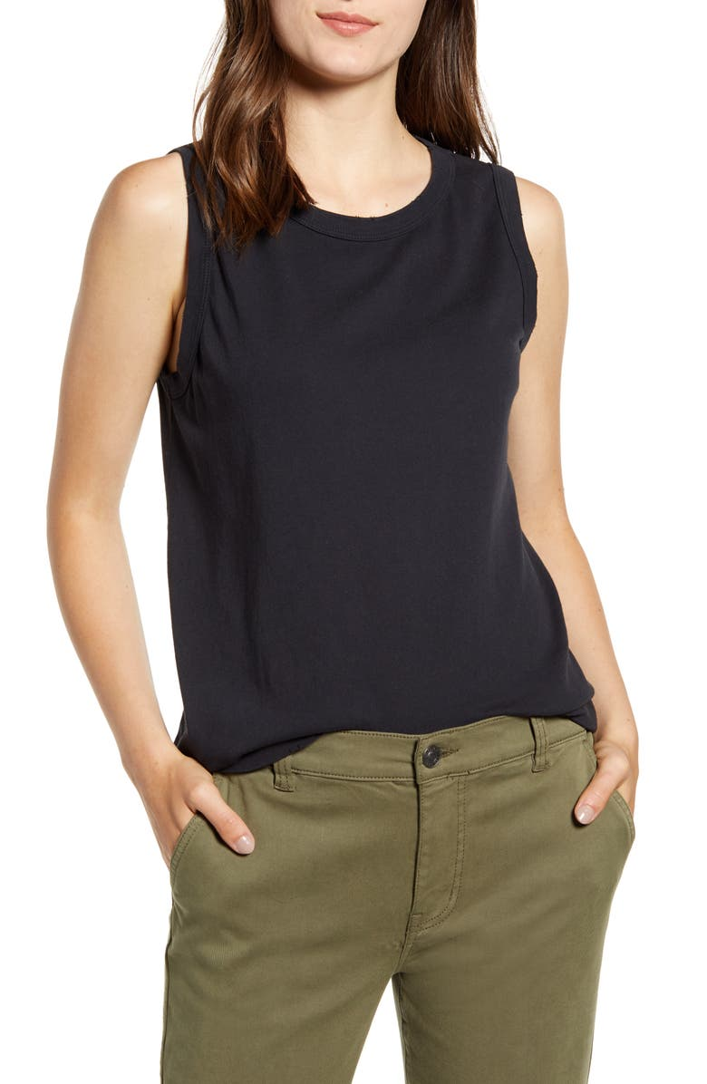 CURRENT/ELLIOTT The Muscle Tank Top, Main, color, 001