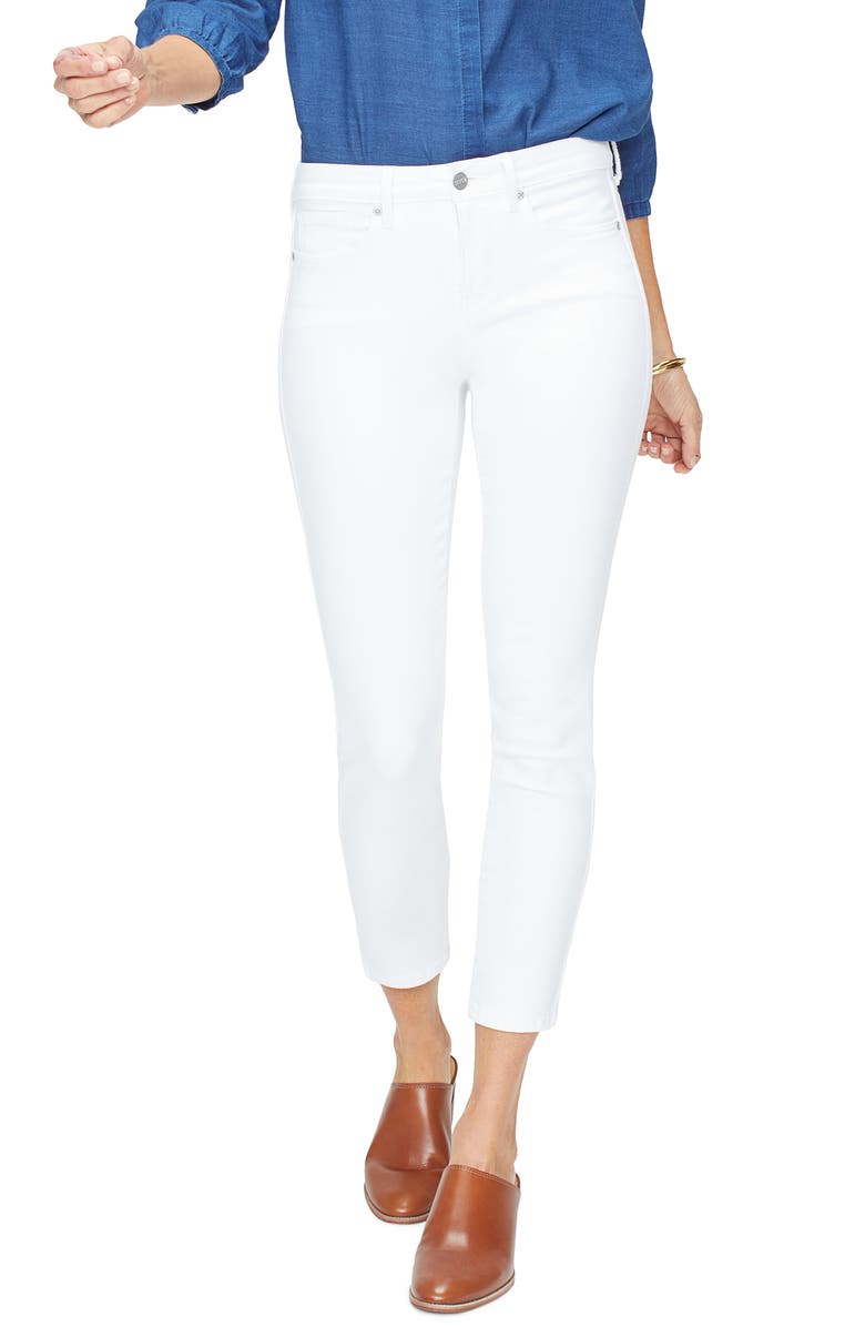 NYDJ Ankle Skinny Jeans, Main, color, OPTIC WHITE