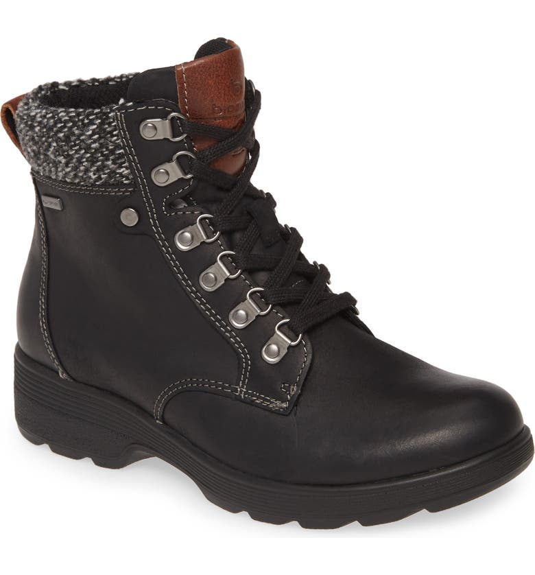 BIONICA Everson Waterproof Bootie, Main, color, BLACK LEATHER