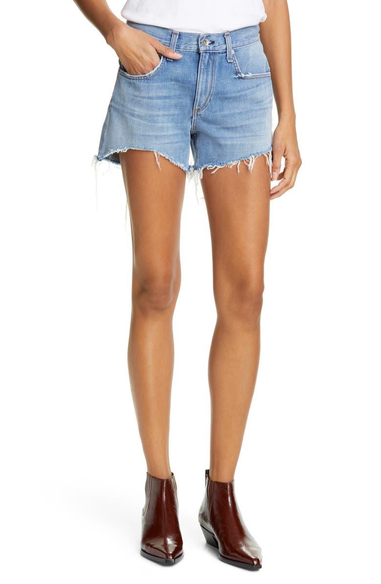 RAG & BONE Dre Distressed Denim Shorts, Main, color, 420