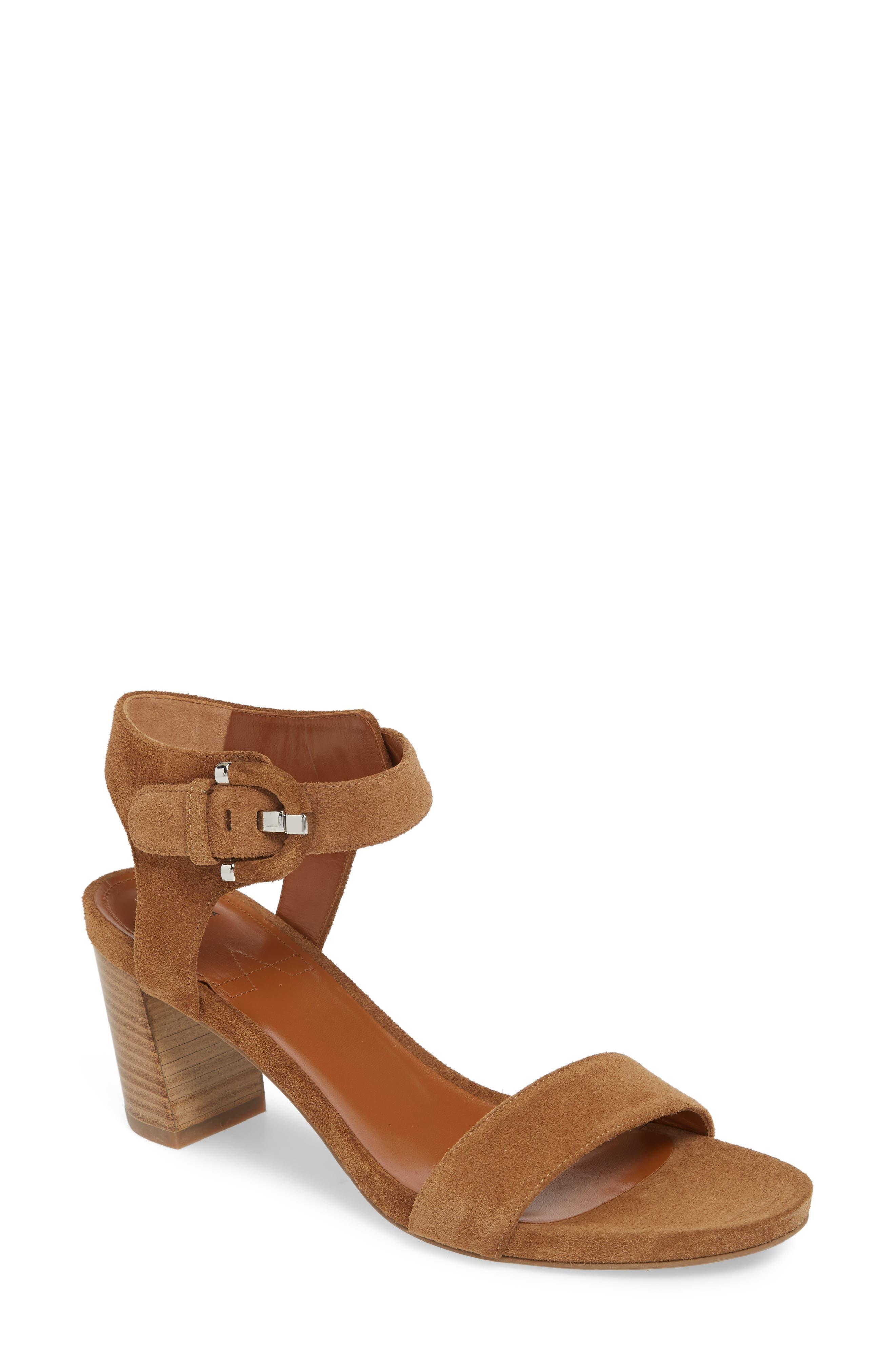 Aquatalia Breanna Ankle Strap Sandal- Brown