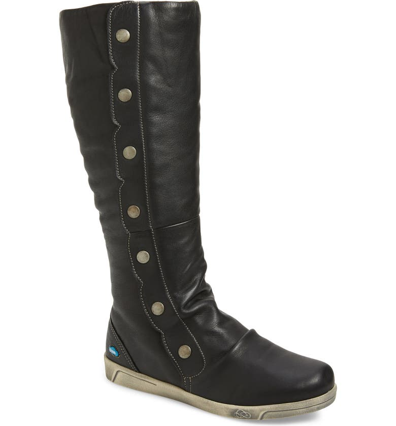 CLOUD Avior Knee High Boot, Main, color, BLACK LEATHER