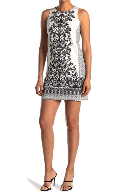Image of London Times Medallion Floral Print Shift Dress
