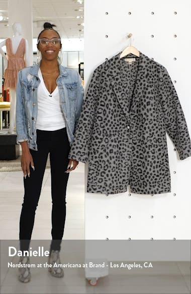 Cheetah Brushed Jacquard Coat, sales video thumbnail
