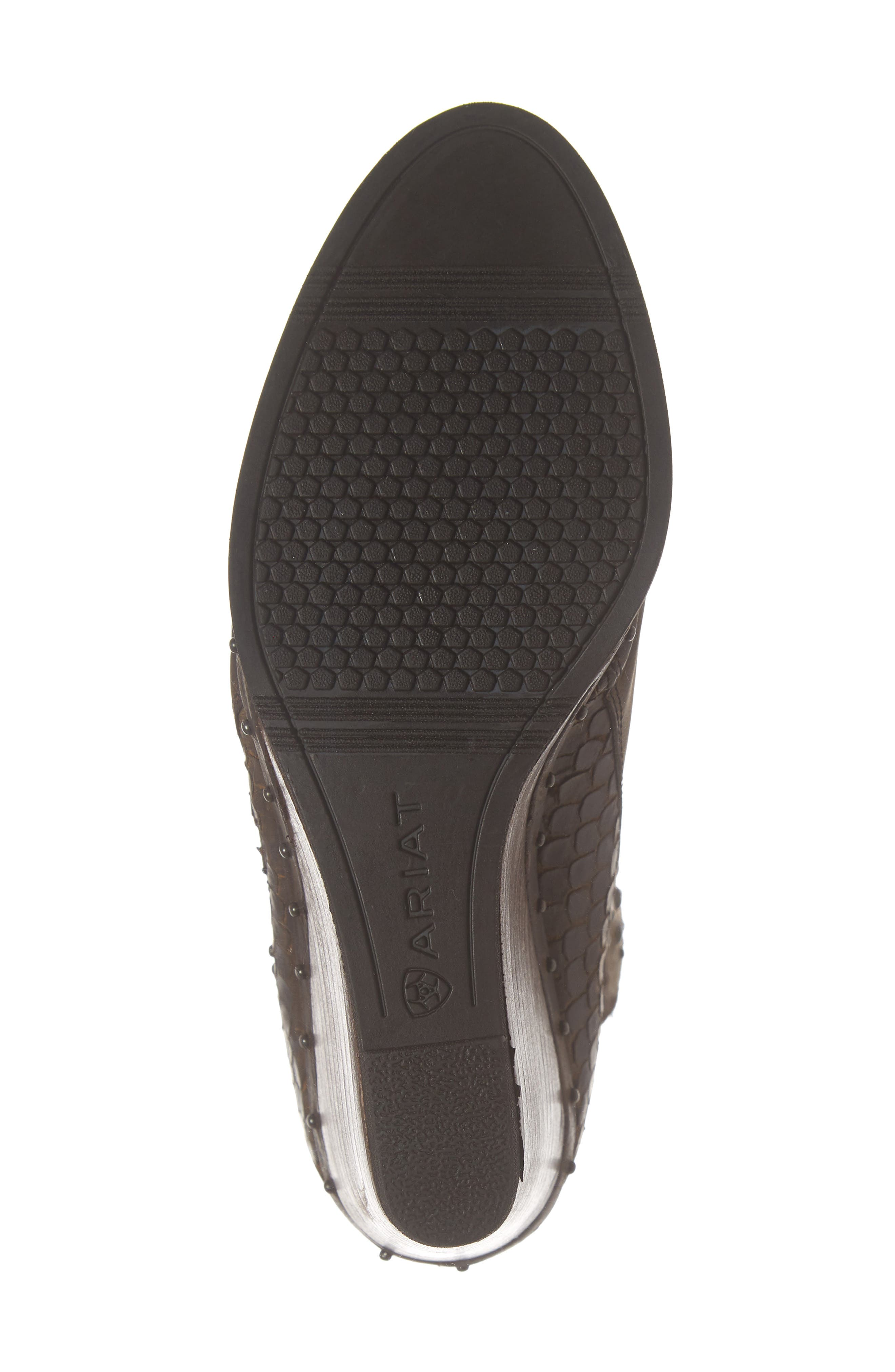 ,                             Stax Studded Wedge Bootie,                             Alternate thumbnail 6, color,                             RUSSET DIAMONDBACK TAN LEATHER