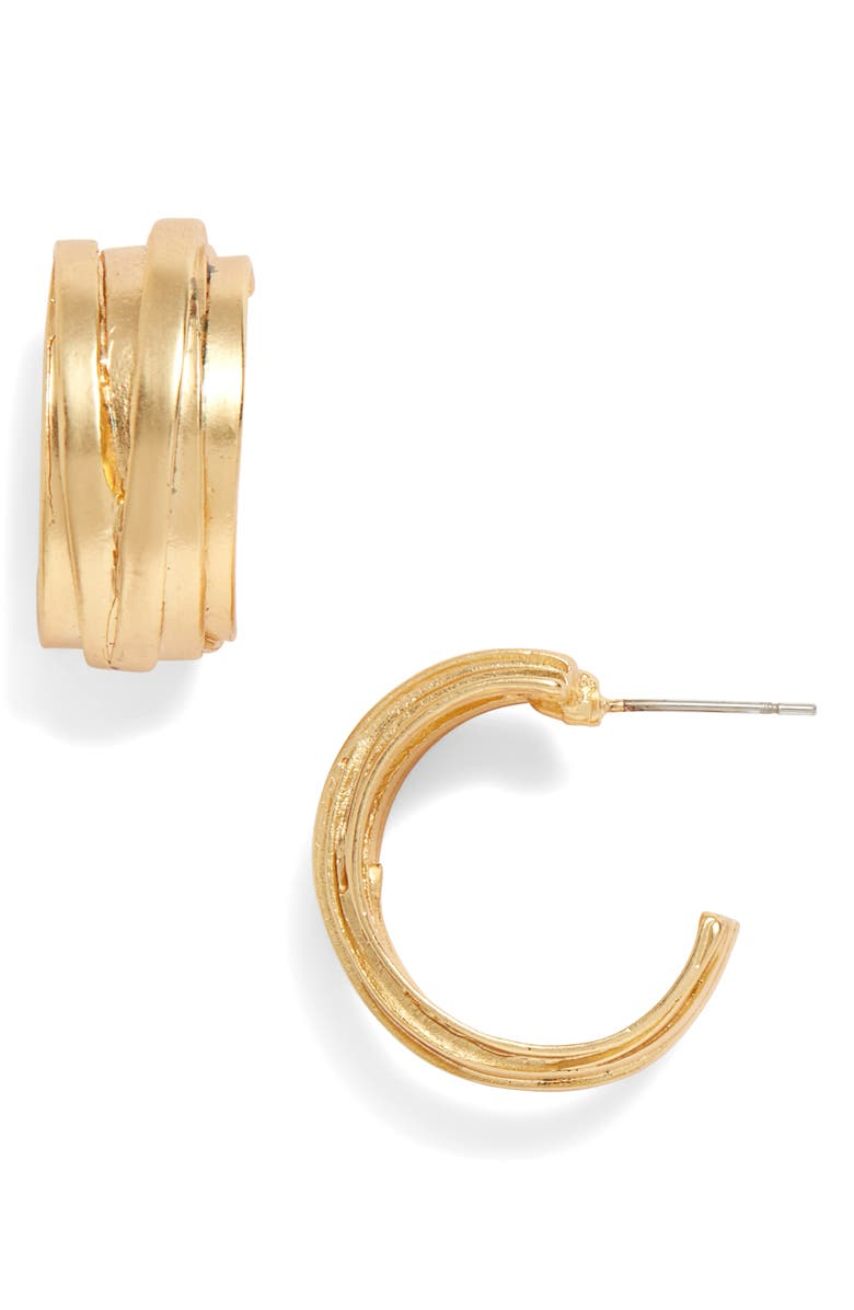 KARINE SULTAN Hoop Earrings, Main, color, GOLD