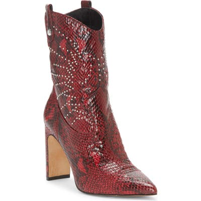 Jessica Simpson Bazil Western Bootie- Red