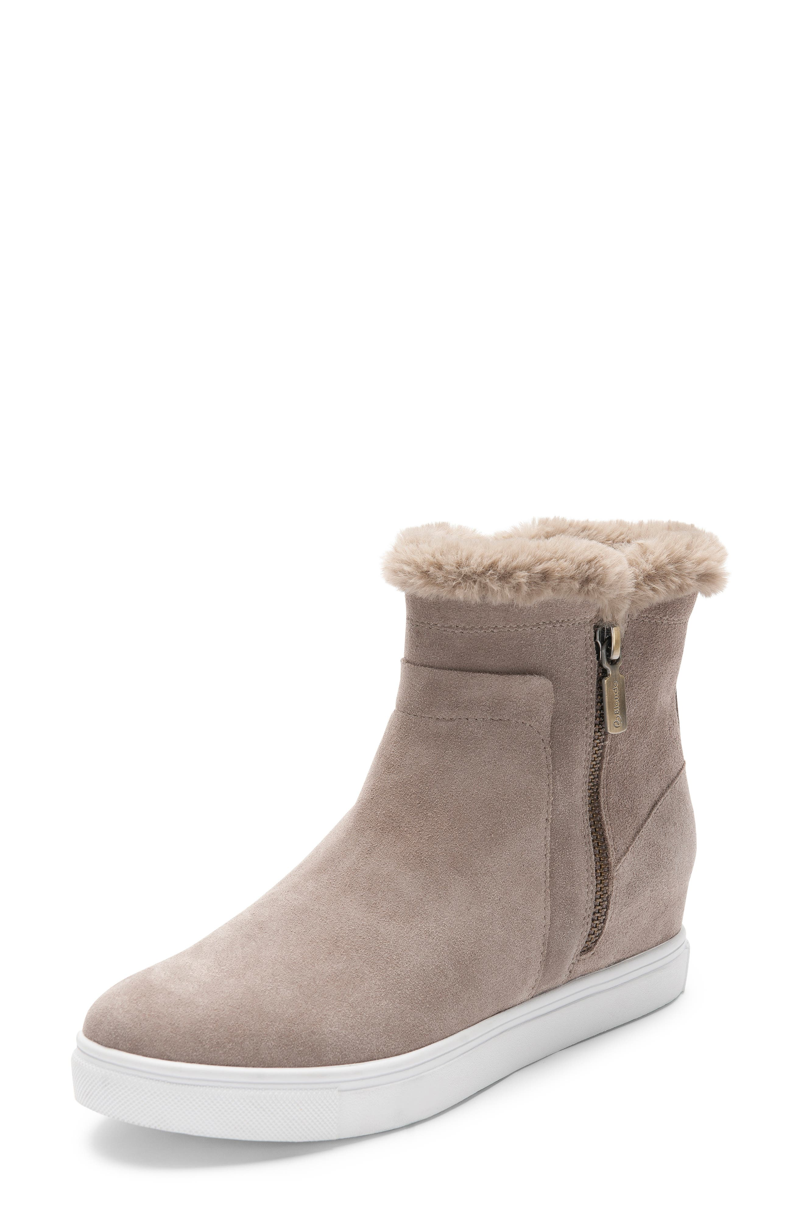 Image of Blondo Glade Suede Faux Fur Lined Sneaker