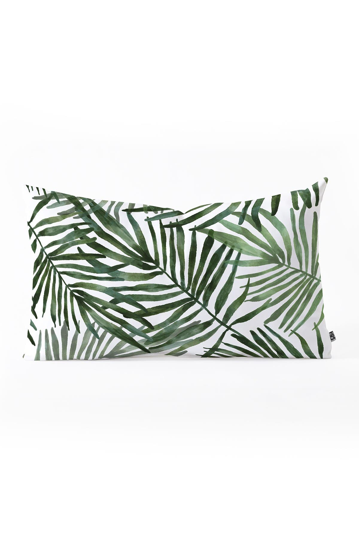 Image of Deny Designs Marta Barragan Camarasa Watercolor simple leaves Oblong Throw Pillow