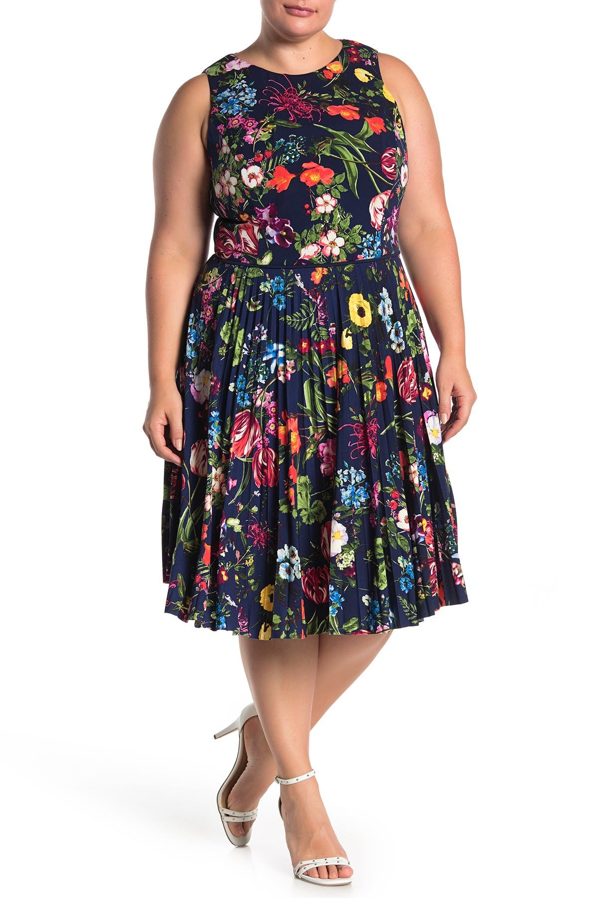 Image of Maggy London Botanical Bloom Printed Dress