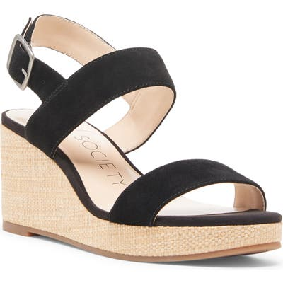 Sole Society Cimme Wedge Sandal, Black