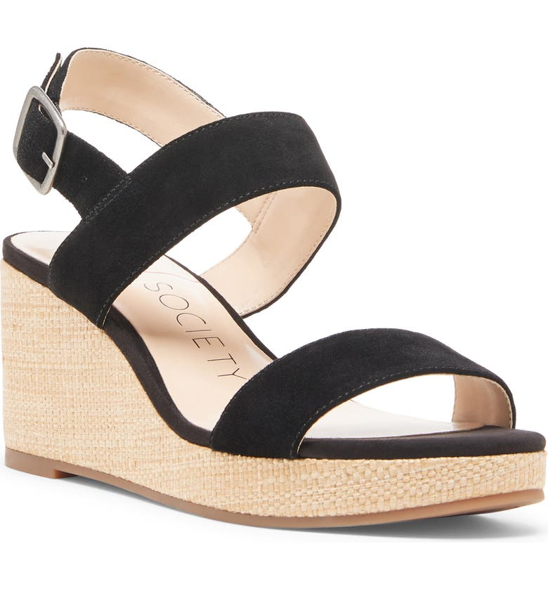 SOLE SOCIETY Cimme Wedge Sandal, Main, color, 001