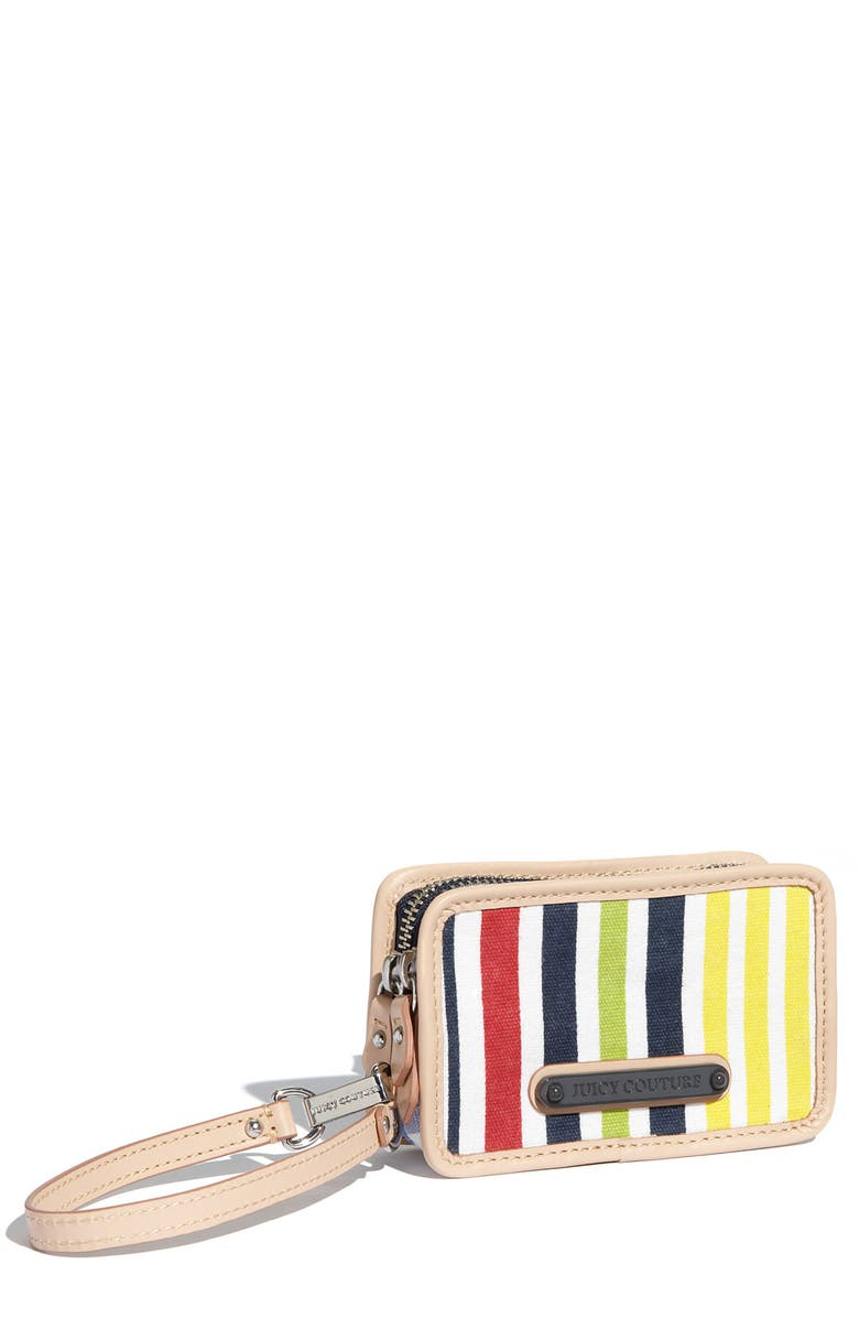 JUICY COUTURE 'Crazy for Couture' Canvas Phone Wristlet, Main, color, 460