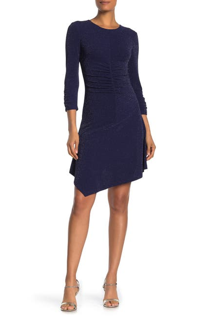 Image of Vince Camuto Sparkle Knit Ruched Bodycon Dress