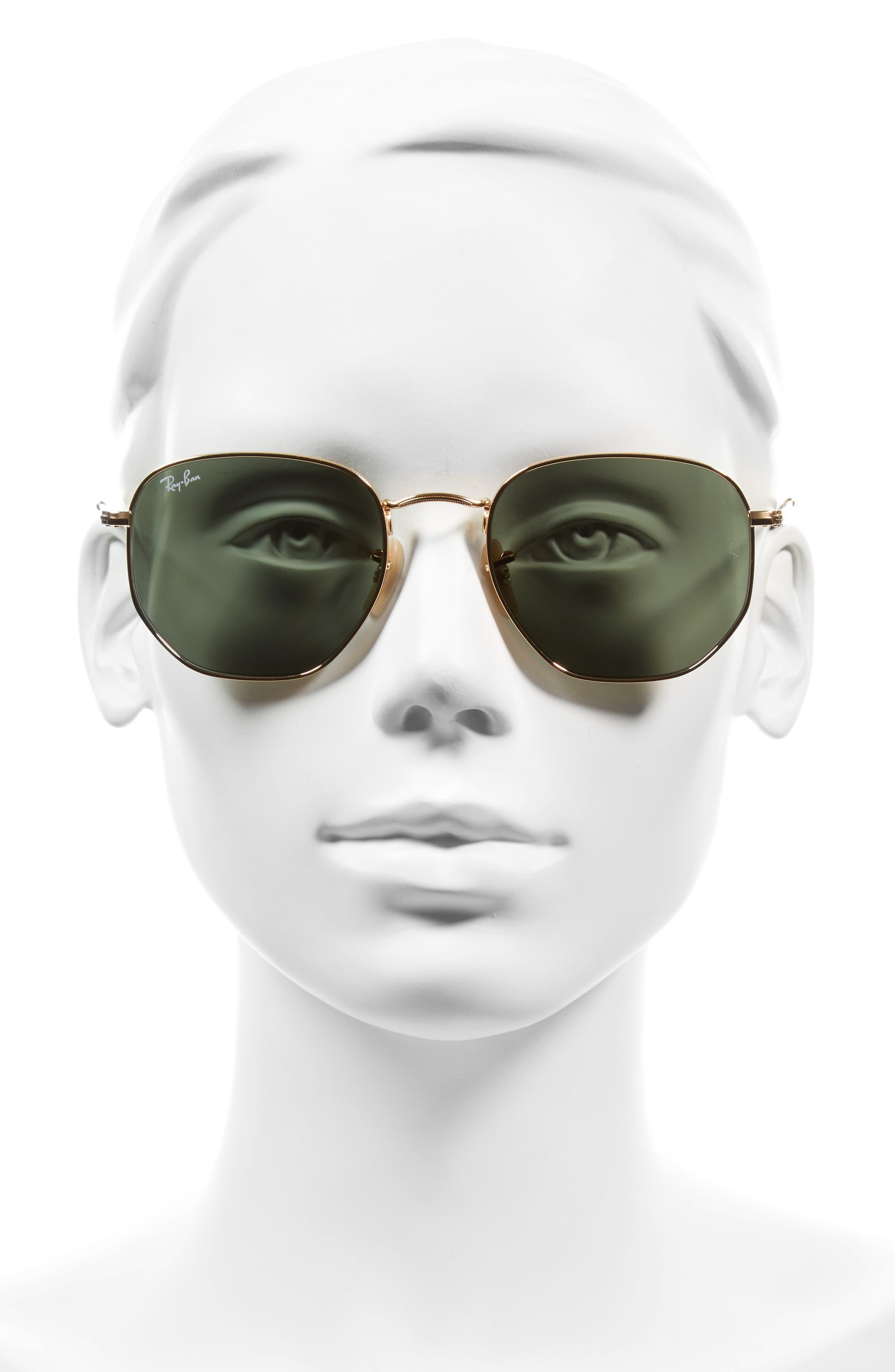 ,                             54mm Aviator Sunglasses,                             Alternate thumbnail 2, color,                             GOLD/ GREEN