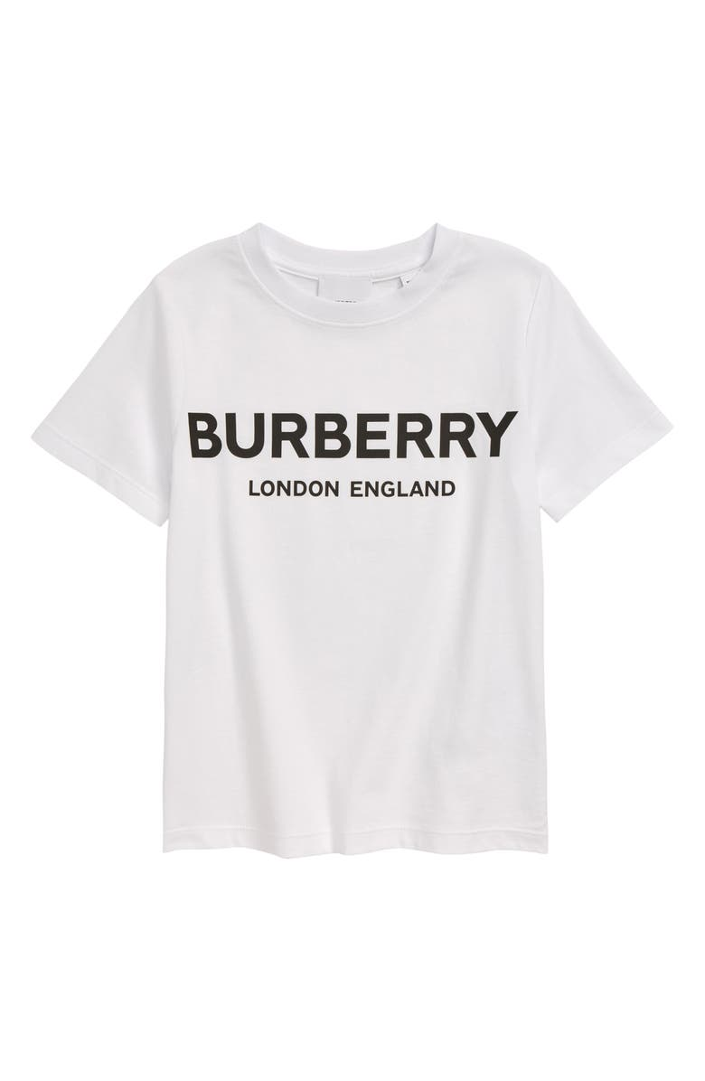 BURBERRY Robbie T-Shirt, Main, color, WHITE
