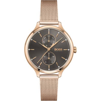 Boss Purity Multifunction Mesh Strap Watch, 37Mm