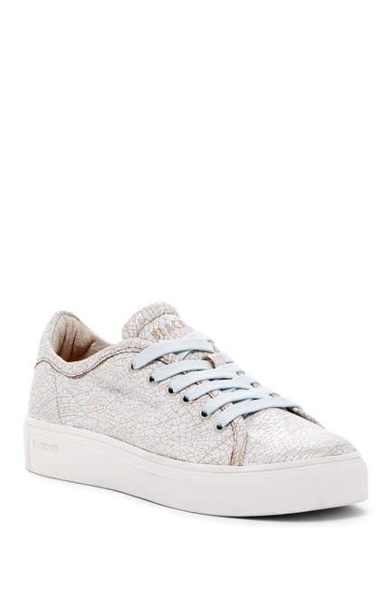 Image of Blackstone Crackled Leather Sneaker