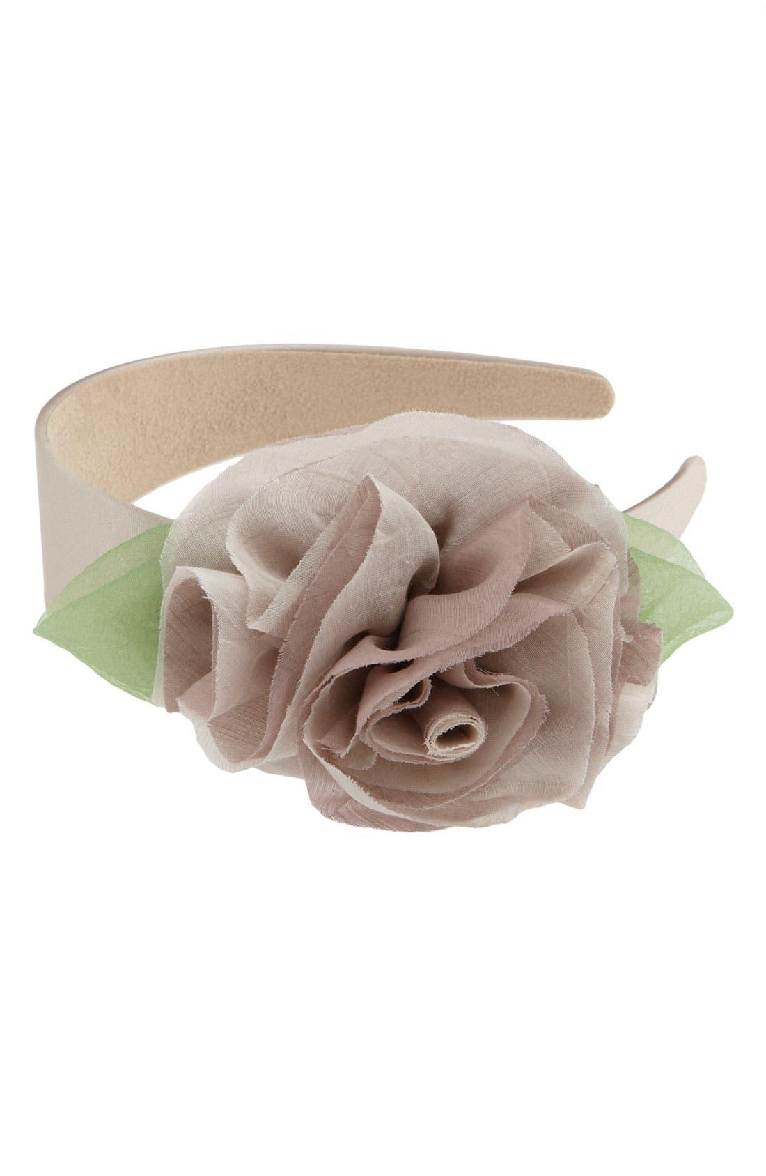 ,                             Floral Headband,                             Main thumbnail 1, color,                             020