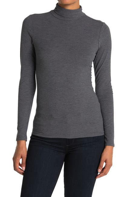 Image of G-STAR RAW Silber Slim Turtle Neck Top