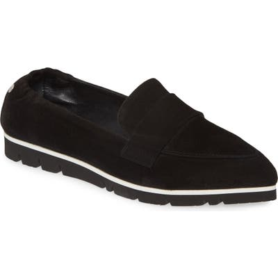 Agl Micro Pointed Toe Loafer - Black