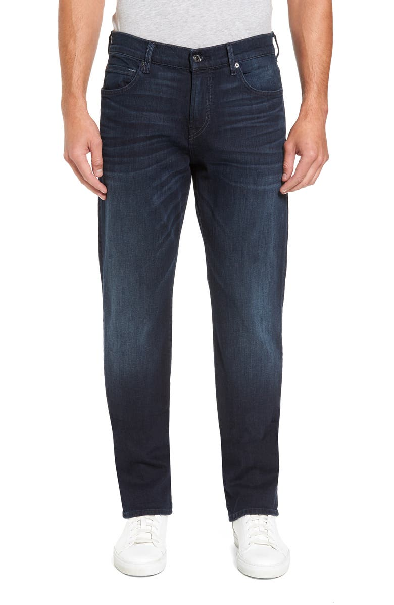 7 FOR ALL MANKIND<SUP>®</SUP> Carsen Luxe Performance Straight Leg Jeans, Main, color, DARK CURRENT