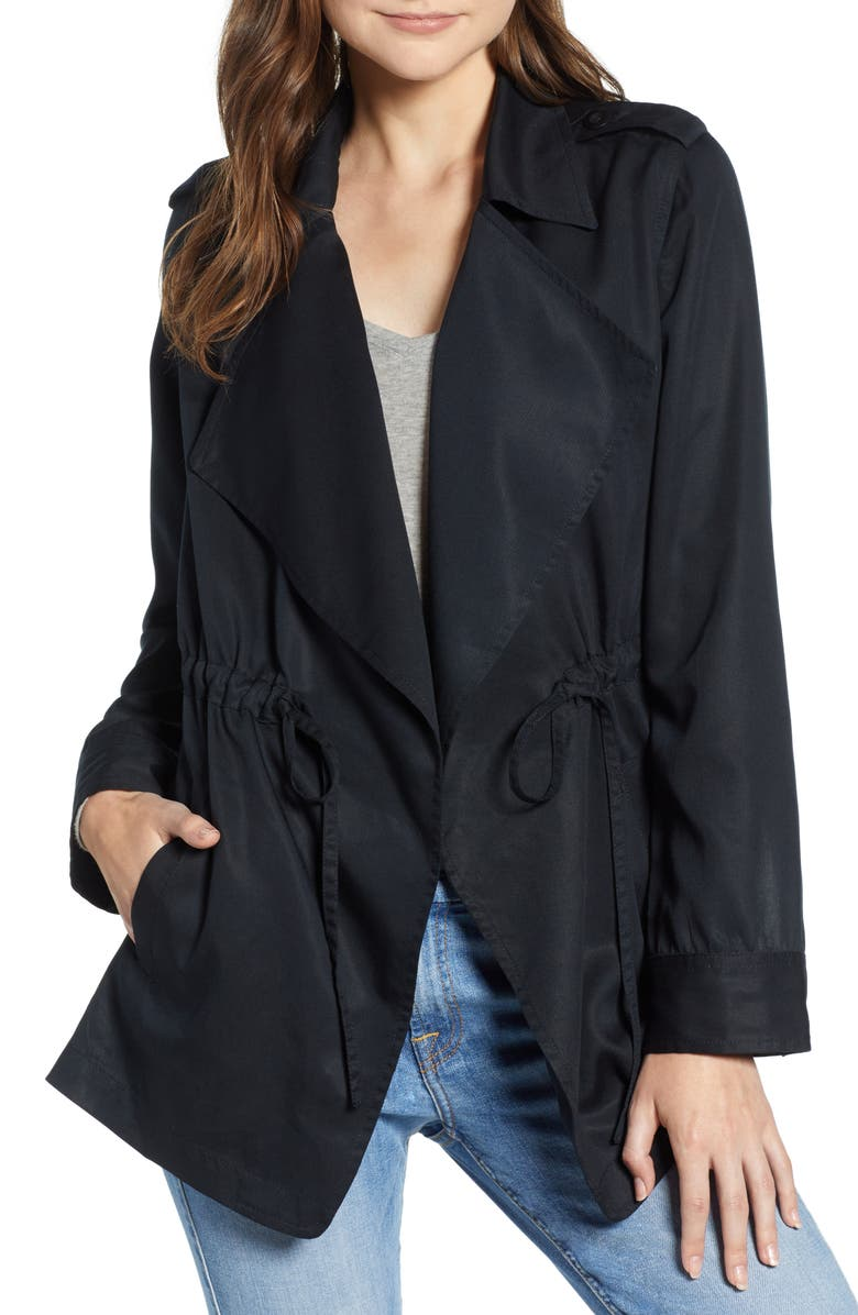 HINGE Drapey Utility Jacket, Main, color, 001