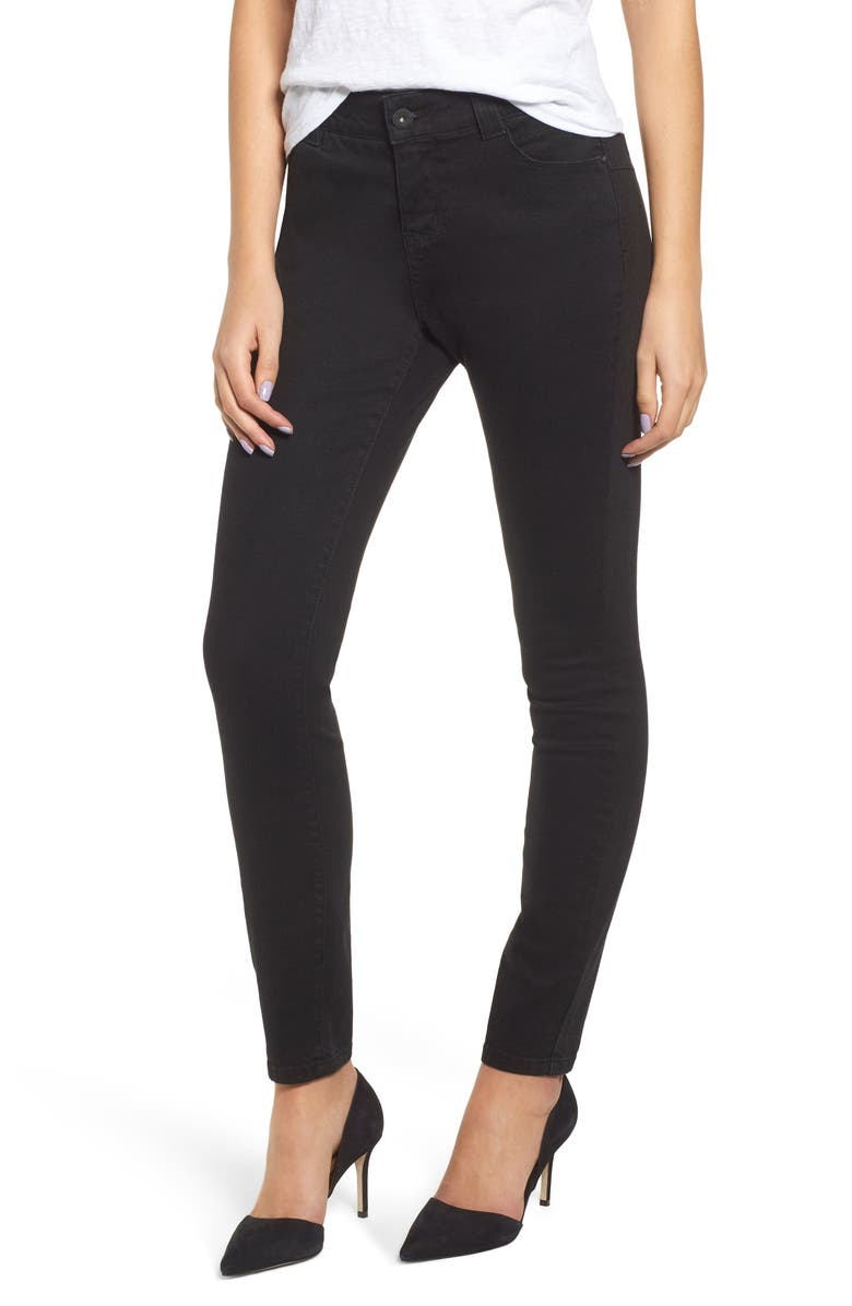 JAG JEANS Cecelia Skinny Jeans, Main, color, BLACK VOID