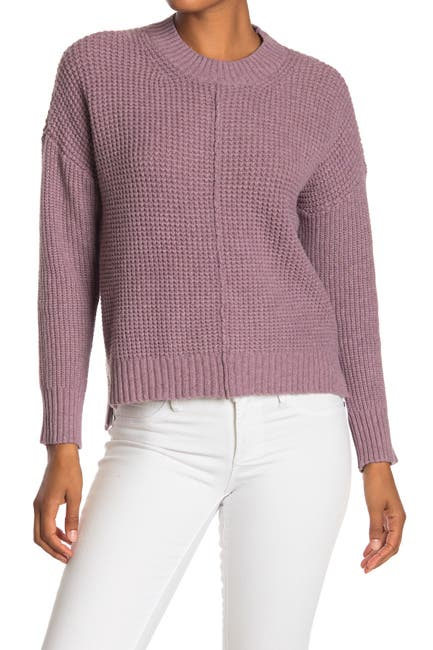 Image of Sweet Romeo Seam Front Waffle Pullover Sweater