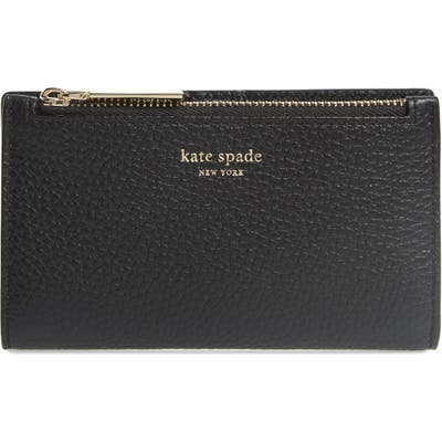 Kate Spade New York Shirley Leather Slim Bifold Wallet - Black