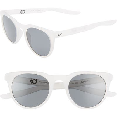 Nike Kd Trace 4m Round Sport Sunglasses - Matte Light Bone/ Dark Grey