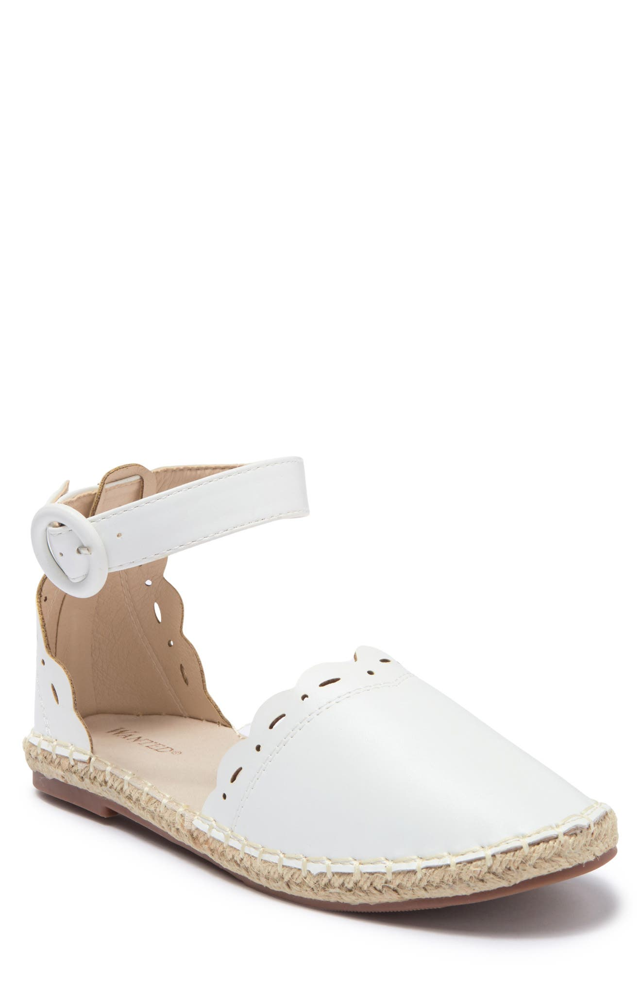 Image of Wanted Scallop Trim Espdarille Sandal