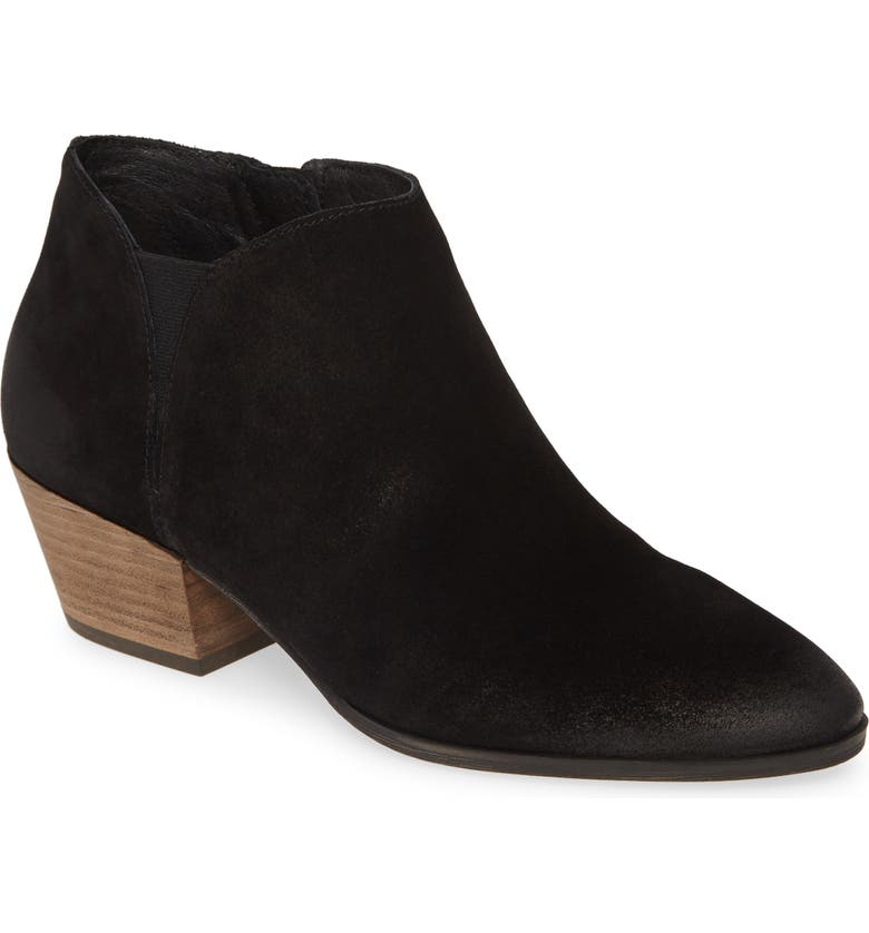 CASLON<SUP>®</SUP> Nora Bootie, Main, color, BLACK SUEDE