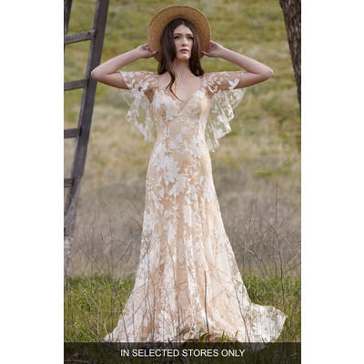 Willowby Seville Embroidered Tulle A-Line Wedding Dress