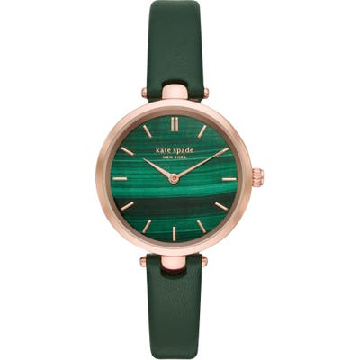 Kate Spade New York Holland Leather Strap Watch,