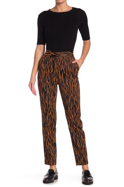 Image of Diane von Furstenberg Sienna Animal Printed Trousers