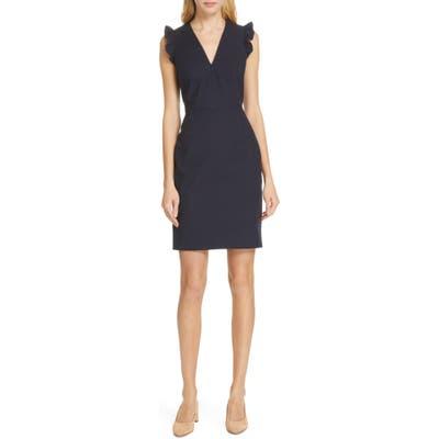 Tailored By Rebecca Taylor V-Neck Sheath Dress, Blue
