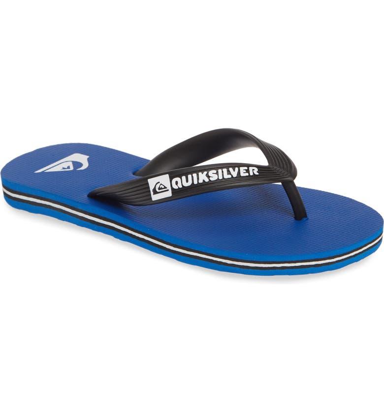 QUIKSILVER Molokai Flip Flop Sandal, Main, color, BLACK/ BLUE/ BLACK