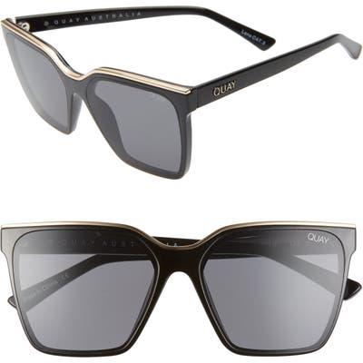 Quay Australia X Lizzo Level Up 55mm Sunglasses - Black Gold/ Smoke