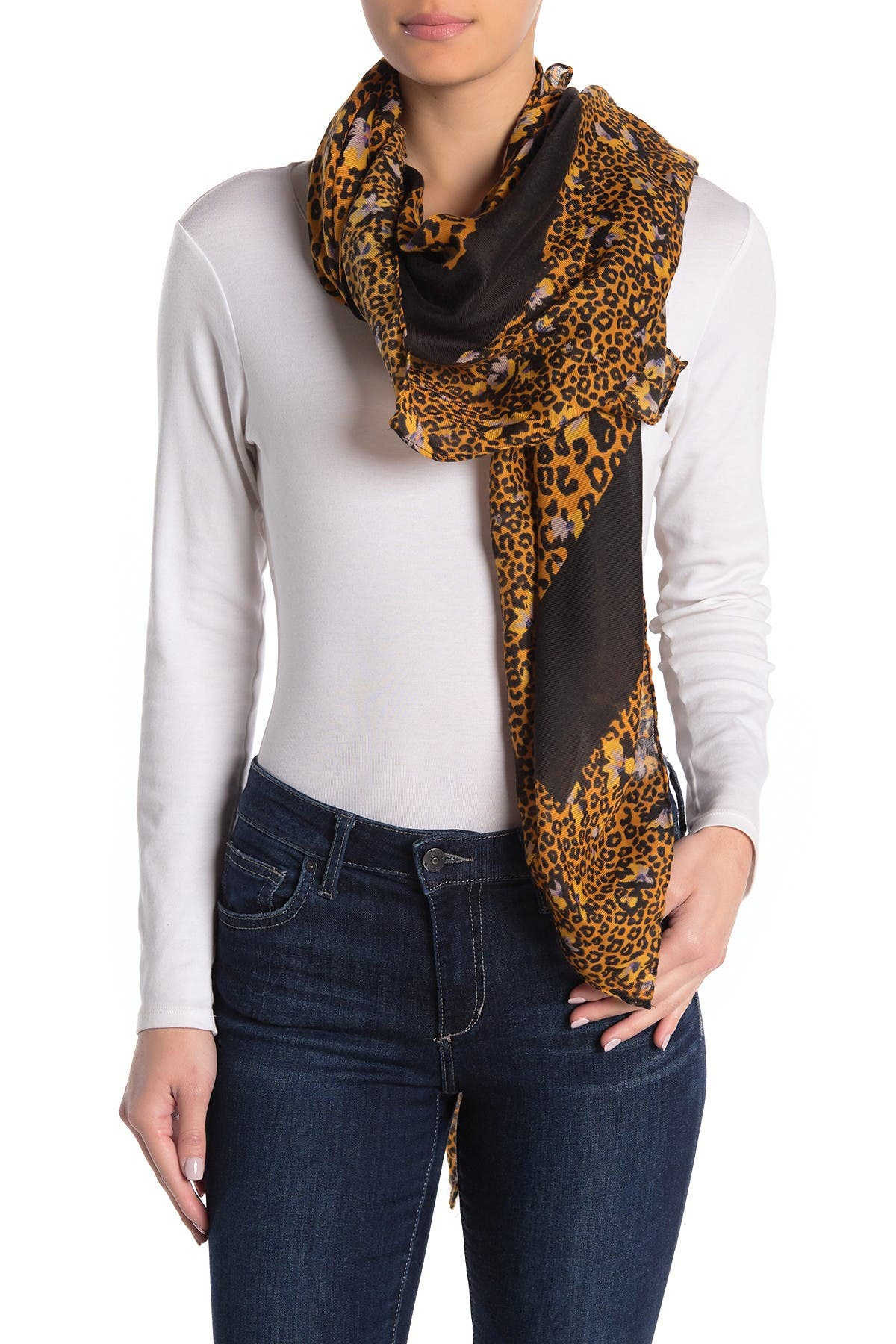 Image of 14th & Union Animal Floral Scarf