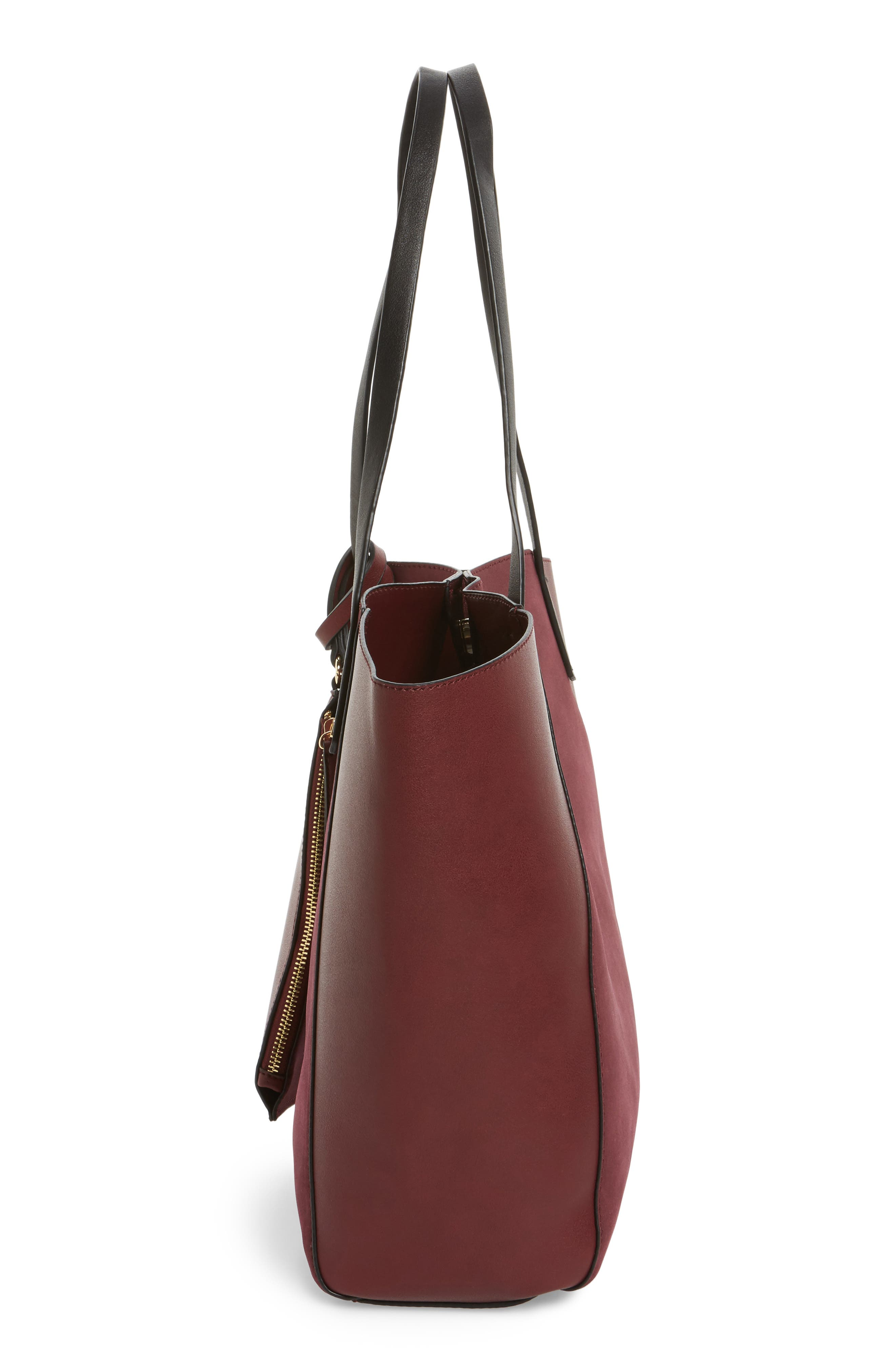 ,                             Colorblock Faux Leather Tote,                             Alternate thumbnail 40, color,                             930