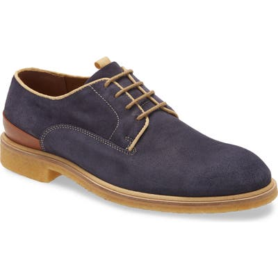 J & m 1850 Wagner Plain Toe Derby- Blue